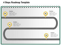 4 Steps Roadmap Template M1231 Ppt Powerpoint Presentation Slides Show