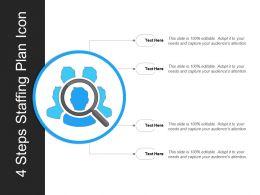 4 Steps Staffing Plan Icon