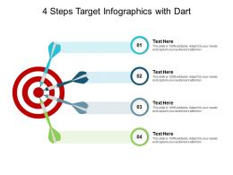 4 Steps Target Infographics With Dart