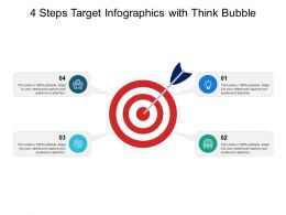 4 Steps Target Infographics With Think Bubble