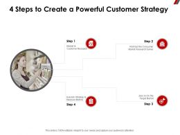 4 Steps To Create A Powerful Customer Strategy Survey Ppt Powerpoint Presentation Pictures Rules