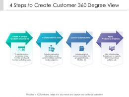 4 Steps To Create Customer 360 Degree View