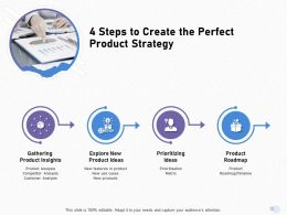 4 Steps To Create The Perfect Product Strategy Use Matrix Ppt Powerpoint Presentation Model Graphics