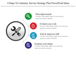 4 Steps To Customer Service Strategy Plan Powerpoint Ideas