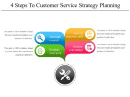 4 Steps To Customer Service Strategy Planning Powerpoint Images