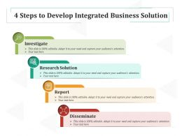 4 Steps To Develop Integrated Business Solution