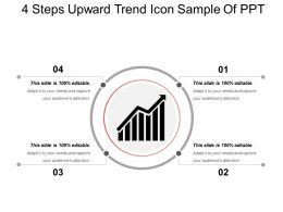 4 Steps Upward Trend Icon Sample Of Ppt