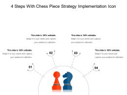 4 Steps With Chess Piece Strategy Implementation Icon