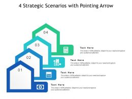 4 Strategic Scenarios With Pointing Arrow