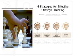 4 Strategies For Effective Strategic Thinking