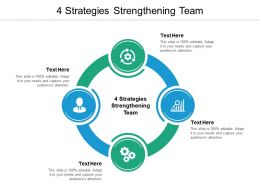 4 Strategies Strengthening Team Ppt Powerpoint Presentation File Slide Download Cpb