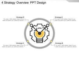 4 Strategy Overview Ppt Design