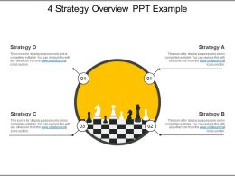 4 Strategy Overview Ppt Example