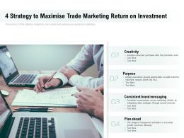 4 Strategy To Maximise Trade Marketing Return On Investment