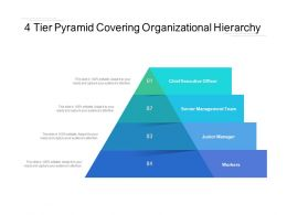 4 Tier Pyramid Covering Organizational Hierarchy