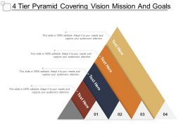 4 Tier Pyramid Covering Vision Mission And Goal