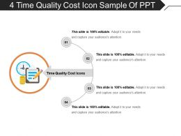 4 Time Quality Cost Icon Sample Of Ppt