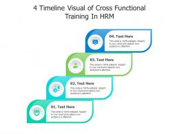 4 Timeline Visual Of Cross Functional Training In HRM Infographic Template
