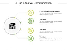 4 Tips Effective Communication Ppt Powerpoint Presentation Inspiration Infographics Cpb