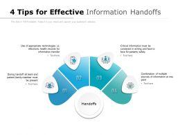 4 Tips For Effective Information Handoffs