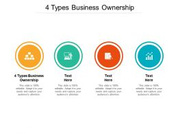 4 Types Business Ownership Ppt Powerpoint Presentation Ideas Inspiration Cpb