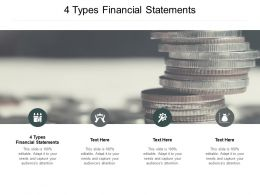 4 Types Financial Statements Ppt Powerpoint Presentation Portfolio Rules Cpb