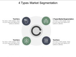 4 Types Market Segmentation Ppt Powerpoint Presentation Pictures Cpb