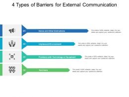 4 Types Of Barriers For External Communication