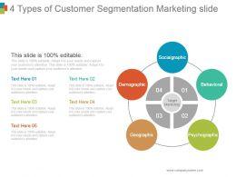 4 Types Of Customer Segmentation Marketing Slide Powerpoint Ideas