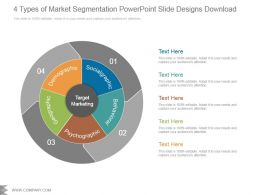 4 Types Of Market Segmentation Powerpoint Slide Designs Download