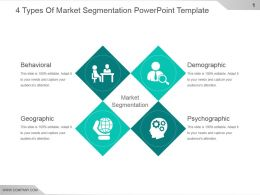 4 Types Of Market Segmentation Powerpoint Template