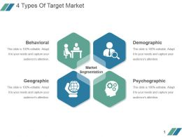4 Types Of Target Market Sample Ppt Presentation