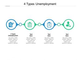 4 Types Unemployment Ppt Powerpoint Presentation Outline Templates Cpb