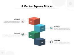 4 Vector Square Blocks