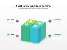 4 Vertical Blocks Aligned Together
