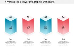 4 Vertical Box Tower Infographic With Icons