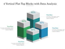 4 Vertical Flat Top Blocks With Data Analysis