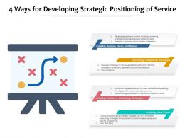 4 Ways For Developing Strategic Positioning Of Service