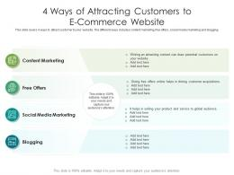 4 Ways Of Attracting Customers To E Commerce Website