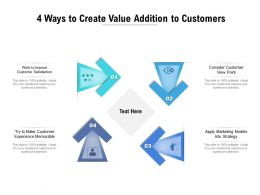 4 Ways To Create Value Addition To Customers