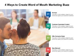 4 Ways To Create Word Of Mouth Marketing Buzz