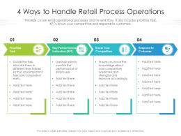 4 Ways To Handle Retail Process Operations