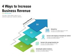 4 Ways To Increase Business Revenue