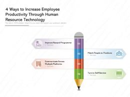 4 Ways To Increase Employee Productivity Through Human Resource Technology