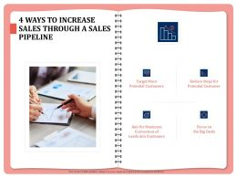 4 Ways To Increase Sales Through A Sales Pipeline Conversion Powerpoint Presentation