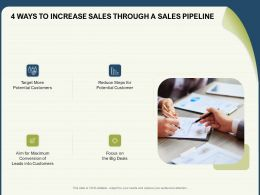 4 Ways To Increase Sales Through A Sales Pipeline Conversion Ppt Powerpoint Presentation Layouts