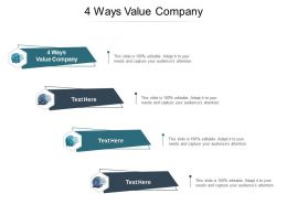 4 Ways Value Company Ppt Powerpoint Presentation Pictures Infographics Cpb