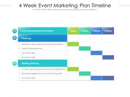 4 Week Event Marketing Plan Timeline