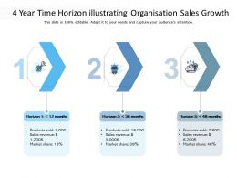 4 Year Time Horizon Illustrating Organisation Sales Growth
