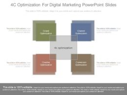 4c Optimization For Digital Marketing Powerpoint Slides